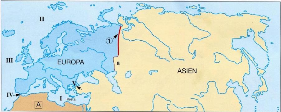 Asien ural europa grenze Wo ist